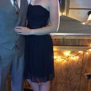 David's Bridal Navy Blue Dress